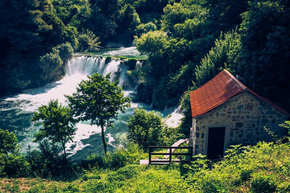 Krka Waterfalls Private Tour with Šibenik town visit