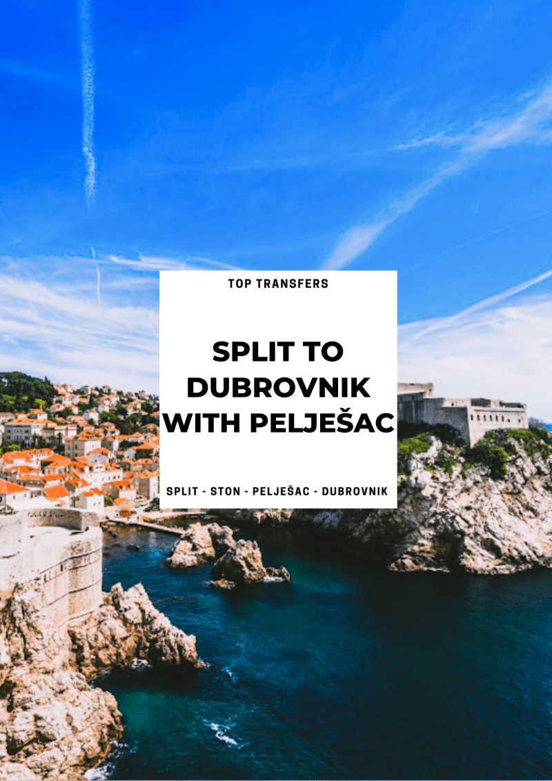 Split to Dubrovnik Transfer with Ston Town, Pelješac ꟾ Croatia Private Tours